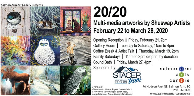 "Salmon Arm Art Gallery, ""20/20 Exhibition,"" 2020"