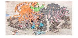 "Shuvinai Ashoona, ""Composition (Attack of the Tentacle Monsters),"" 2015"