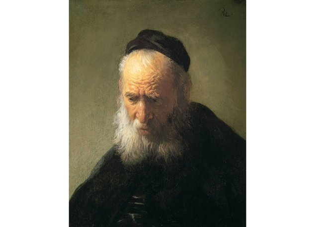"Rembrandt van Rijn, ""Head of an Old Man in a Cap,"" around 1630"