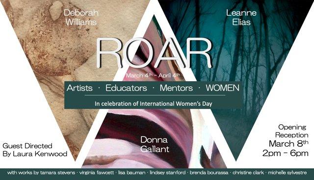 "Deborah Williams, Donna Gallant, and Leanna Elias, ""ROAR,"" 2020"