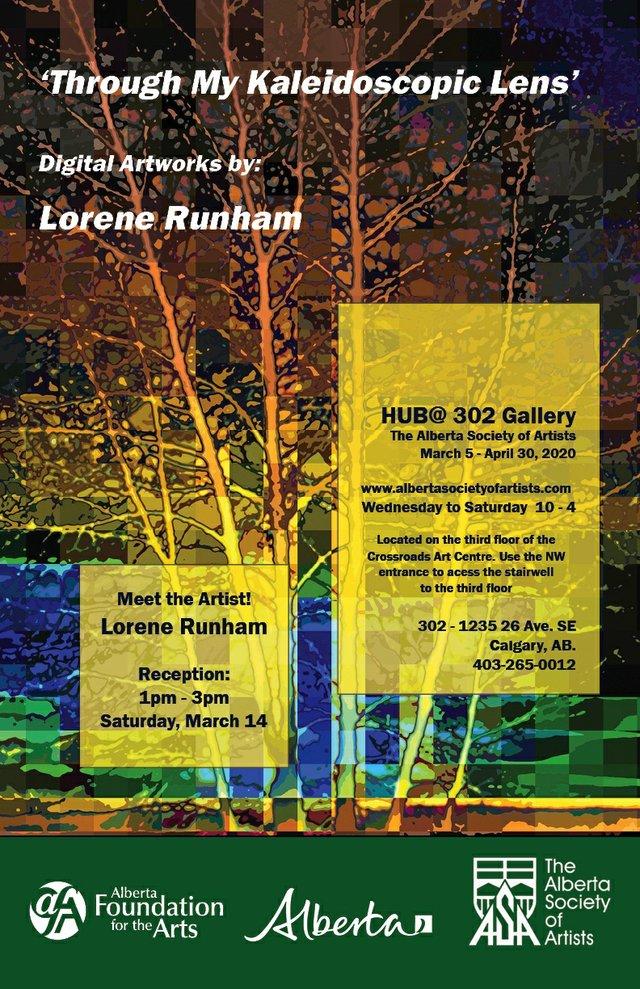 "Lorene Runham, ""Through My Kaleidoscopic Lens,"" 2020"