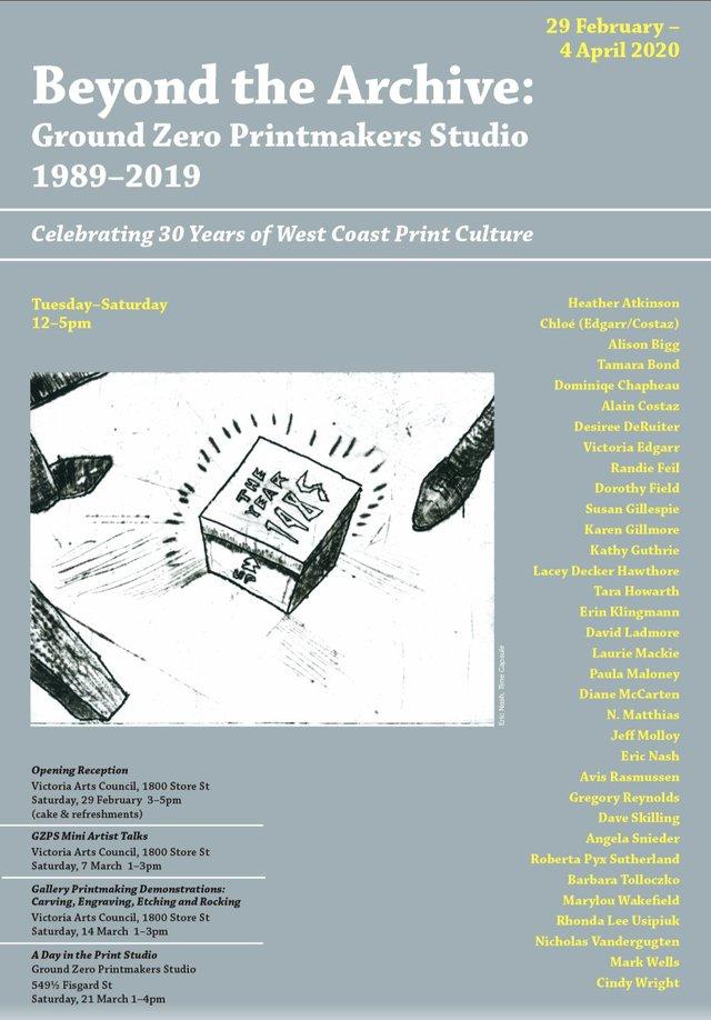 """""""Beyond the Archive: Ground Zero Printmakers Studio, 1989-2019,"""" 2002"""