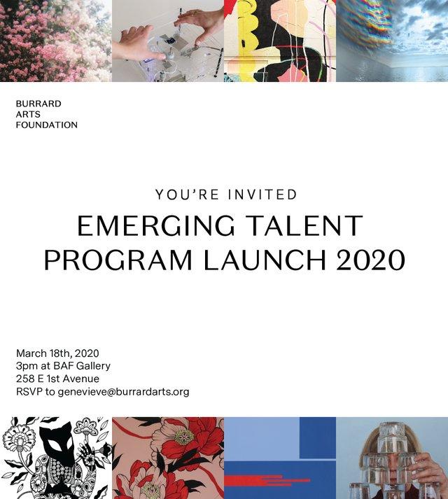 """BAF, """"2020 Emerging Talent Program,"""" 2020"""