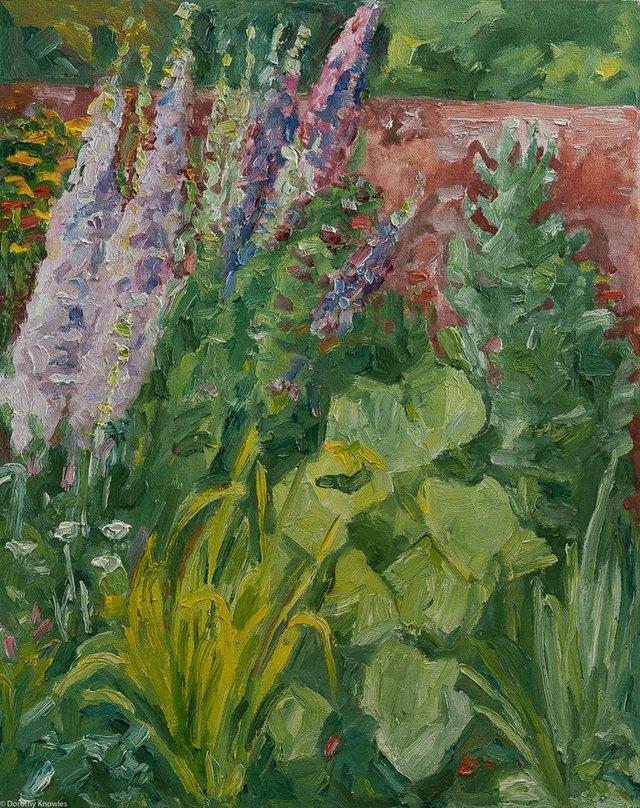 "Dorothy Knowles, ""Mauve Delphinium,"" 1995"