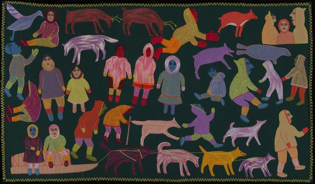 "Mary Qaiqsaut Iqqaat, ""Wall Hanging,"" 1972"