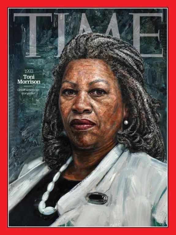 """Tim Okamura, """"Toni Morrison"""" for Time magazine."""