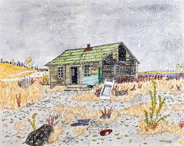 "Walt Humphries, ""Old Cabin (near old fish plant),"" 1982"