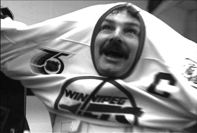 "Burton Cummings as the saviour of the Winnipeg Jet's in L'Atelier national du Manitoba's ""Death by Popcorn: The Tragedy of the Winnipeg Jets,""  2005"