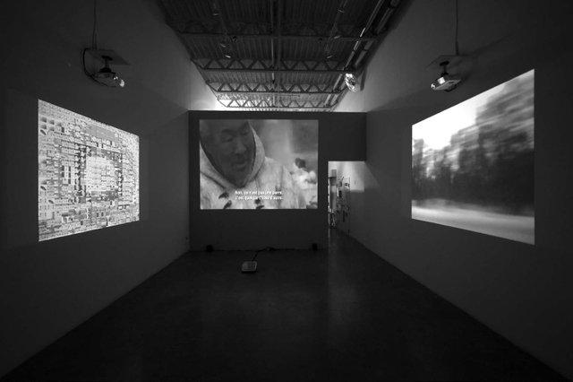 """Geronimo Inutiq, """"ARCTICNOISE,"""" 2015, installation view"""