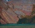 "J.E.H. MacDonald, ""Cliff and Mountain Lake,"" 1927"