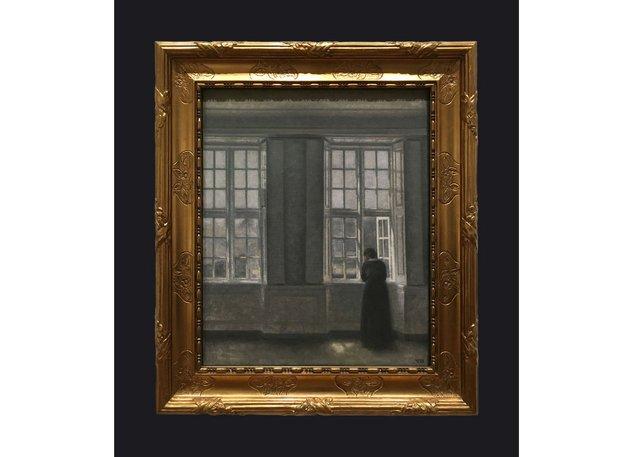 Leslie Hossack's photograph of VilhelmHammershøi's 1913 painting