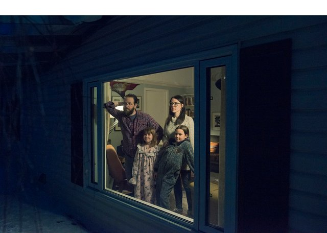 "Pat Kane, ""Isolation Portrait, Swan Family, Yellowknife,"" 2020"