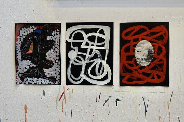 Mark Dicey, recent work in studio,2020