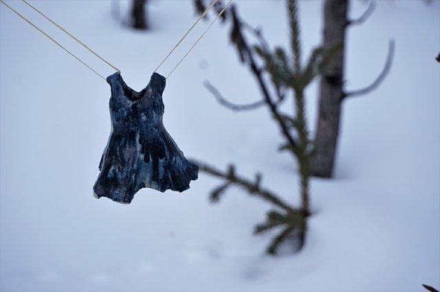 "Nicole Bauberger, ""Small Blue Dress,"" 2020"