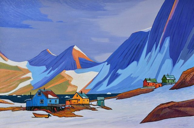 "Nicholas Bott, ""Arctic Hinterland,"" oil on canvas, 40"" x 60"""