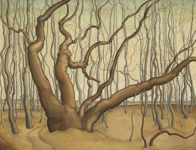 "LionelLeMoineFitzGerald,""Poplar Woods (Poplars),"" 1929"