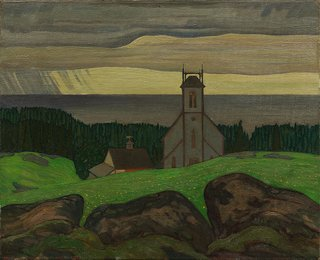 "J.E.H. MacDonald, ""Church by the Sea,"" 1924"