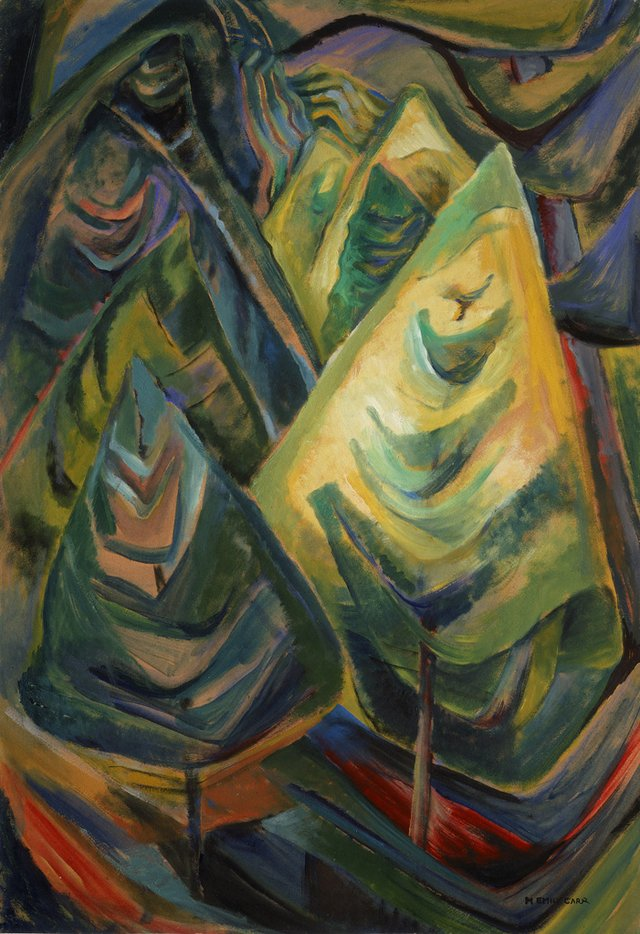 """Emily Carr, """"Untitled,"""" 1931-32, oil on paper (collection of the Vancouver Art Gallery, Emily Carr Trust)"""
