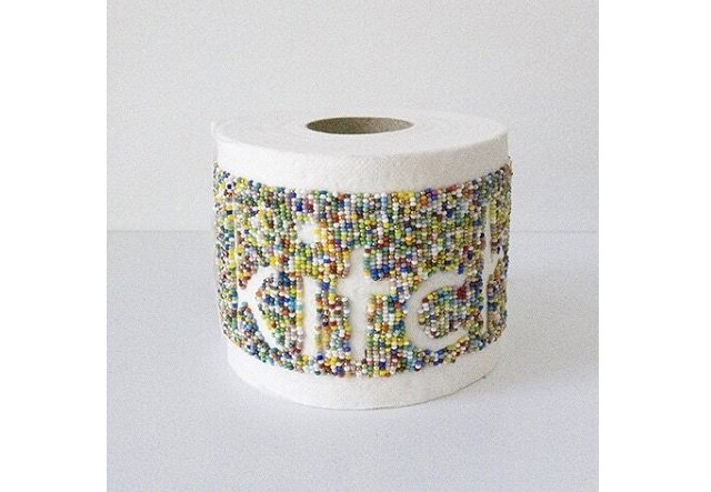 "Audie Murray's 2019 work, ""Kitchisk,"" made with toilet paper and seed beads, is part of the online show, ""Bead Speak 2.0,"" at the Slate Fine Art Gallery in Regina."