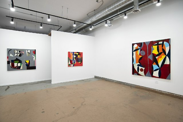 "Installation view of Mark Dicey's ""Rhythm Section"" exhibition at the Jarvis Hall Gallery in Calgary."