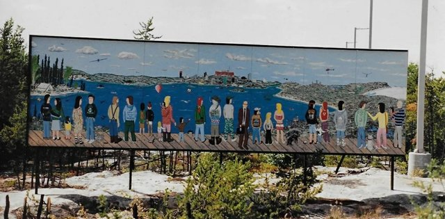 The mural was originally installed in 1992. (photo courtesy Walt Humphries)