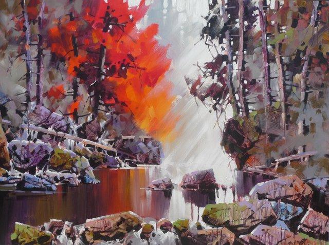 """Bi Yuan Cheng, """"Beautiful Stream,"""" no date"""