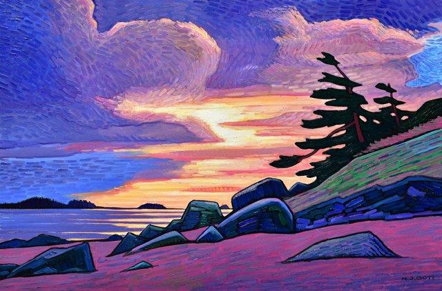 """Nicholas Bott, """"Long Beach Sunset,"""" n. d."""