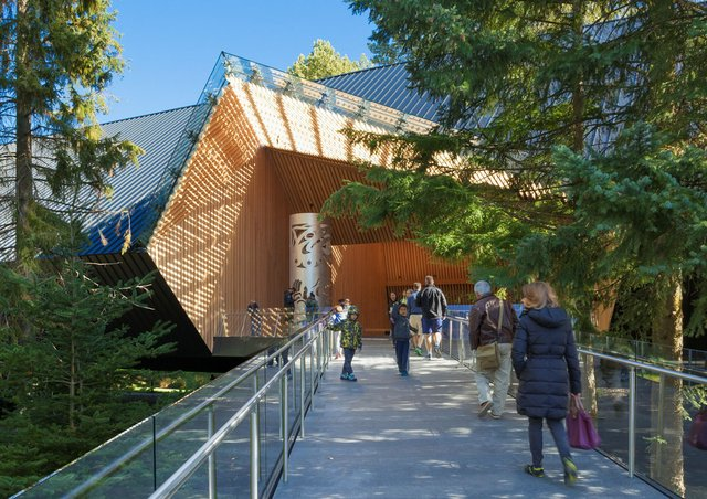 The exterior walkway of the Audain Art Museum in Whistler, B.C. (courtesy Patkau Architects)