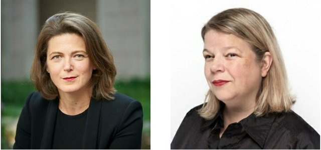 First: Sasha Suda, NGC Director & CEO, second: Kitty Scott, NGC Deputy Director & Chief Curator