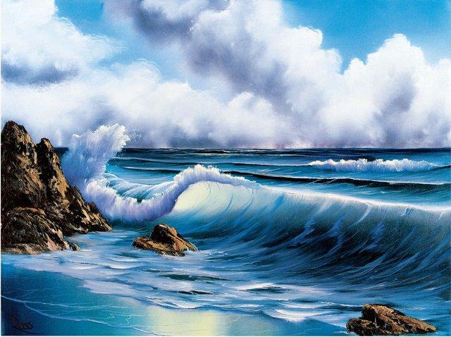 "Bob Ross,""Surf's Up,"" 1986"