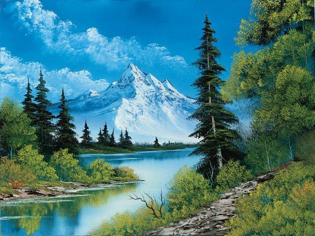 """Bob Ross,""""Mountain Summit,"""" 1987"""