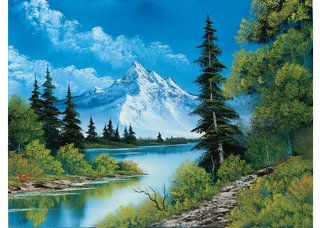 "Bob Ross, ""Mountain Summit,"" 1987"