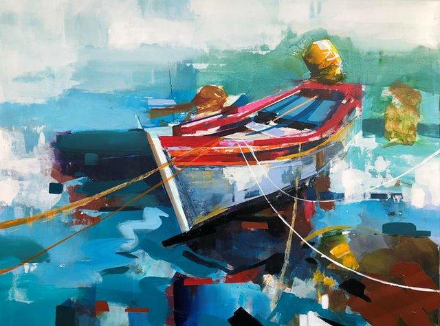 "Yared Nigussu, ""The Fishing Boat I,"" 2020"