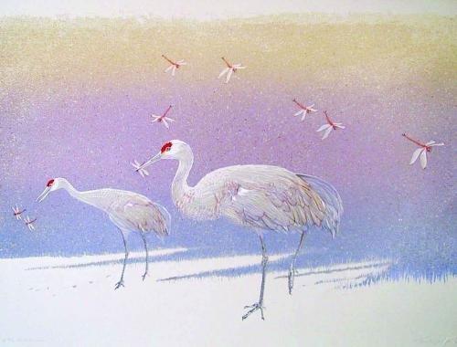 "Roy Tomlinson, ""Sandhill Cranes,"" 2020"