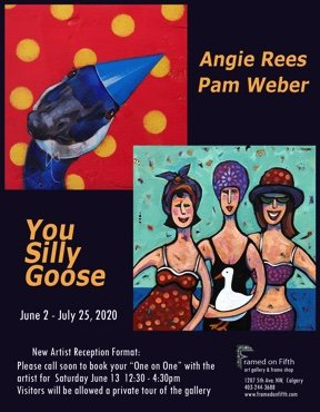 "Pam Weber & Angie Rees, ""You Silly Goose,"" 2020"