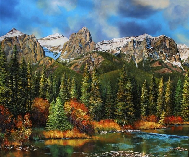"""Andrew Kiss, """"Above Canmore,"""" 2020"""