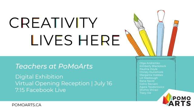 """PoMo Arts, """"Creativity Lives Here,"""" 2020"""
