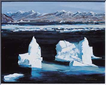 """Icebergs, Cumberland Sound"""