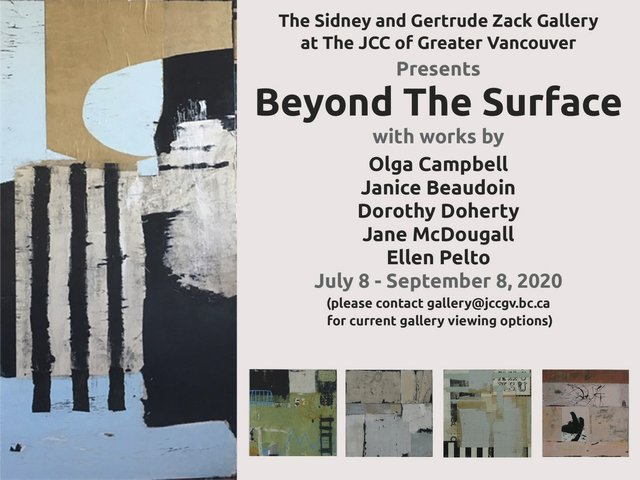 "JCC Sidney and Gertrude Zack Gallery, ""Beyond the Surface,"" 2020"