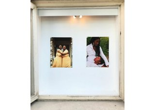 """Winnipeg's Window exhibits """"Sequel to Bond,"""" 2019, by Iyunade Judah (left) and """"When she asked me why I left,"""" 2020, byGlodi Bahati."""