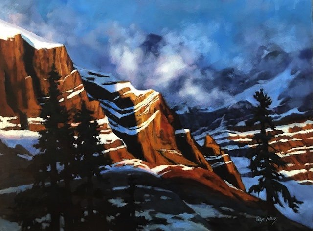 """Gaye Adams, """"Late Day Clearing (Cathedral Peaks),"""" 2020"""