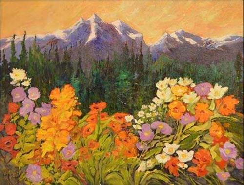 """Sheila Adams, """"Revelstoke Mountain View,"""" 2020"""