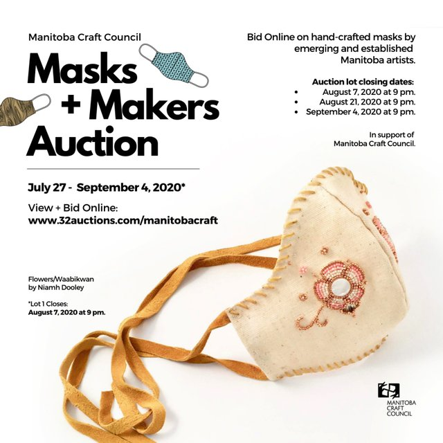 "Manitoba Craft Council, ""Masks and Makers Auction,"" 2020"