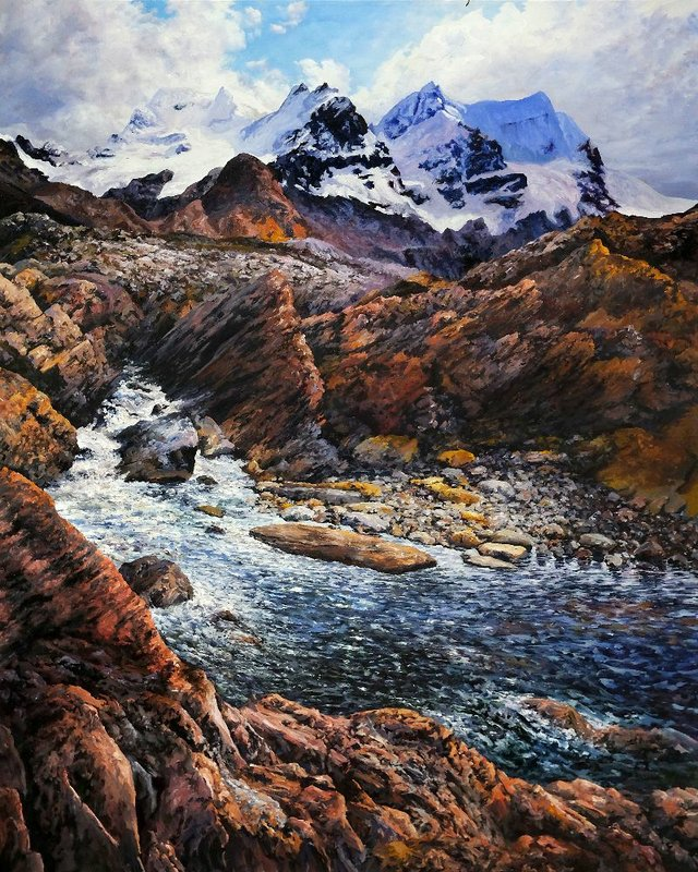 "Tim Schumm, ""Athabasca Headwaters,"" 2020"