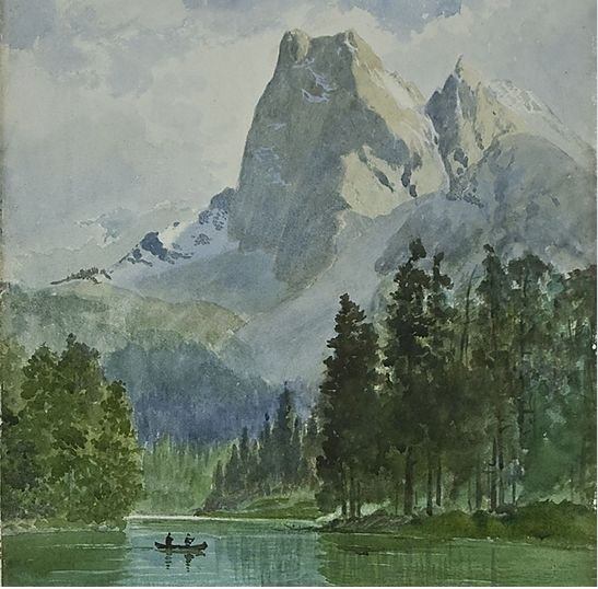 "Frederic Marlett Bell-Smith, ""Mt. Burgess and Emerald Lake,"" n.d."