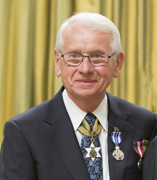 Bill Shurniak, on the occasion of receiving the Meritorious Service Medal from the Governor General (photo by Sgt Johanie Maheu, Rideau Hall © OSGG, 2017)