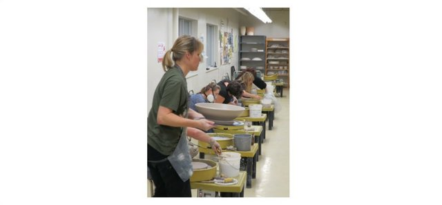 Pottery and ceramics classes are popular and take place in just one of our seven studios at the AGSM.