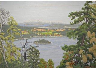 "E.J. Hughes, ""Above Saanich Inlet,""1976"