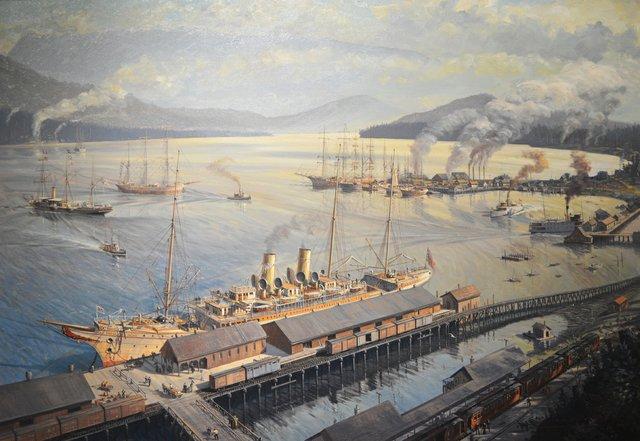 "John M. Horton, ""The old waterfront, 1898,"" 1989"