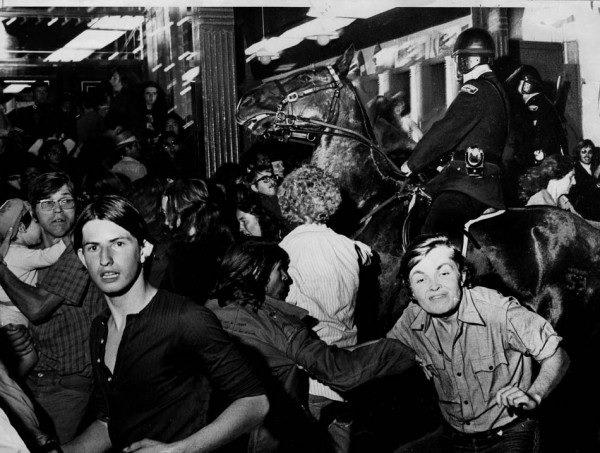 The 1971 Gastown riot (photo by Glenn Baglo, Vancouver Sun)